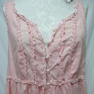 Victoria's Secret Country Pink Nightgown Slits Sm